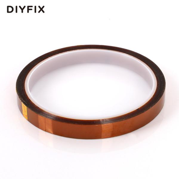 DIYFIX 10 mm x 33 m de calor de la cinta de poliimida resistente de alta temperatura Adhesive Tape aislamiento para BGA PCB SMT