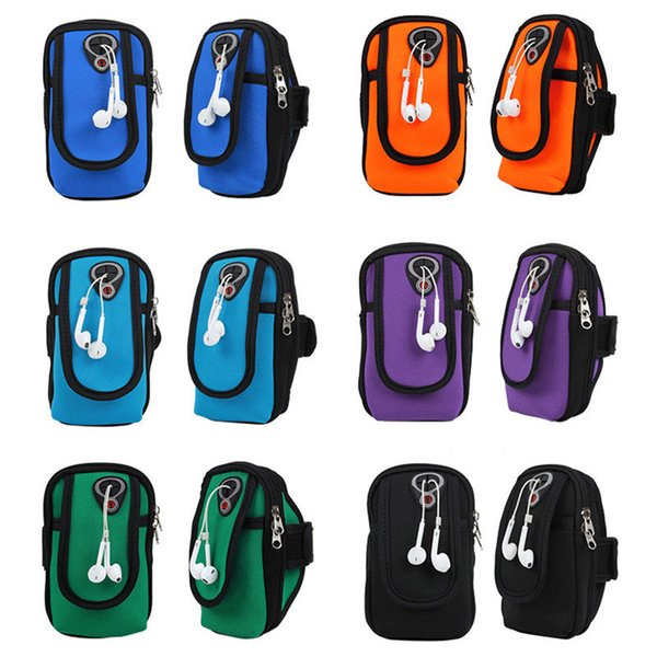 Universal Gym Running Jogging Sports Wallet Bag for 4-6inch Cell Phone Pouch Waterproof Armband Case Outdoor Arm Bag