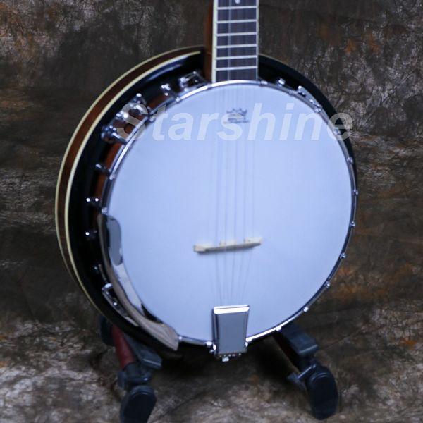 Starshine 5 corde Banjo Sapele Backside Traditional Western Concert Bass Guitar per strumenti a corda musicali