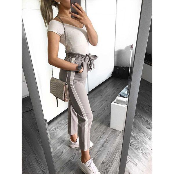 Papillon casual da donna Pantaloni Pantaloni a righe lunghe Autunno femminile Pantaloni Moda Streetwear Pantaloni drop shipping