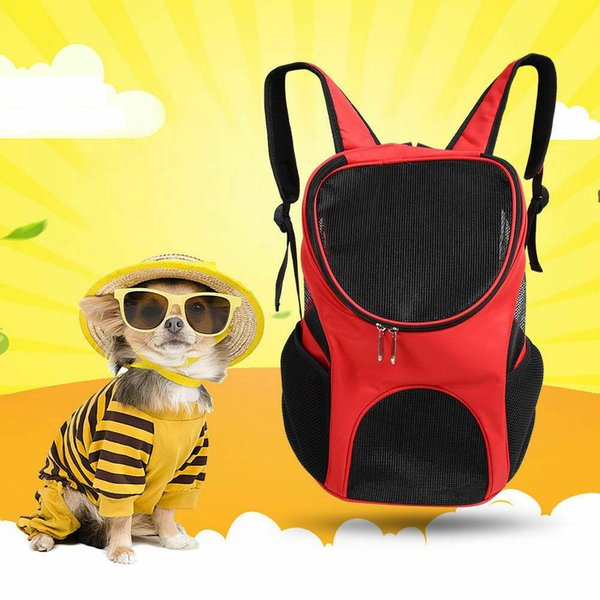 Outdoor Breathable Backpack with Mesh Window for Pet Dogs Cat Travel 30*25*35cm