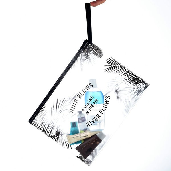 2019 Effacer Transparent Cosmétique Trousse De Toilette De Mode PVC Trousse de Toilette Voyage Grand Organisateur Imperméable Beauté Maquillage Bain Maquillage