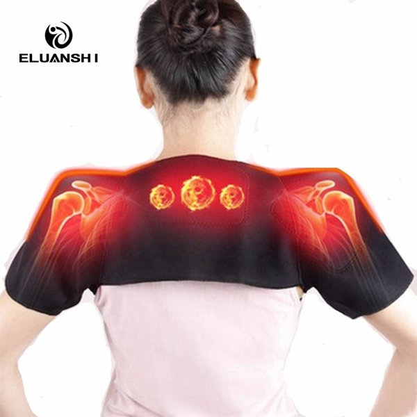 Self Heating Pain Relieve Magnetic Massager Therapy the posture corrector back support Belt Brace women tape Black basketball #283489