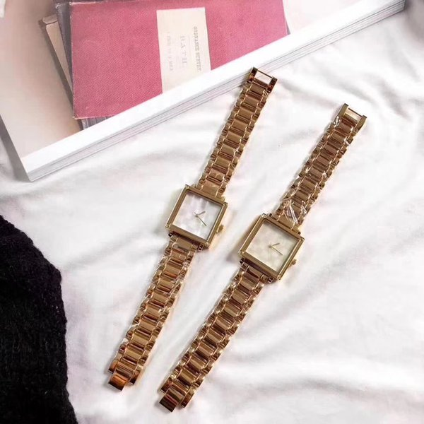2018 Top Brand Square Women Bracelet Watch Contracted stainless steel Crystal WristWatches Women Dress Ladies Quartz Clock Dropshiping