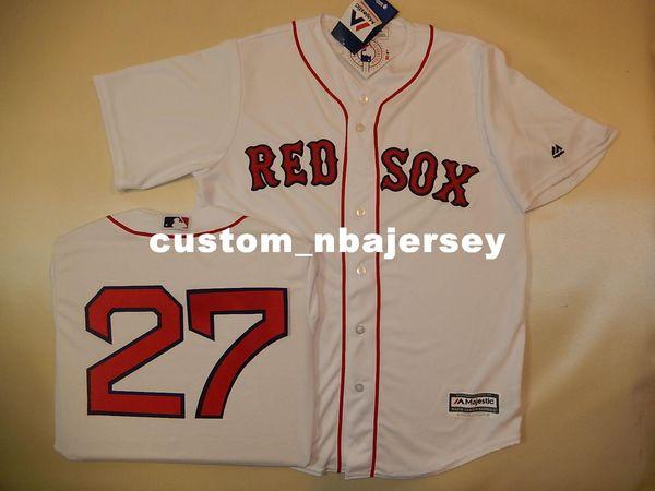 Cheap custom CARLTON FISK #27 SEWN Cool Base Baseball Jersey NEW Stitched Customize any name number MEN WOMEN BASEBALL JERSEY XS-5XL