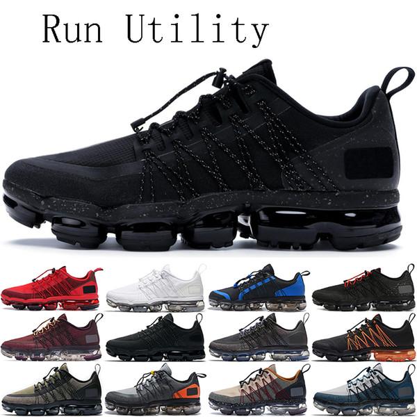 Compre 2019 Run Utility Hombres Mujeres Zapatillas De Correr Triple Negro Reflect Silver Urban Bounce Anthracite Entrenador Para Hombres Zapatillas