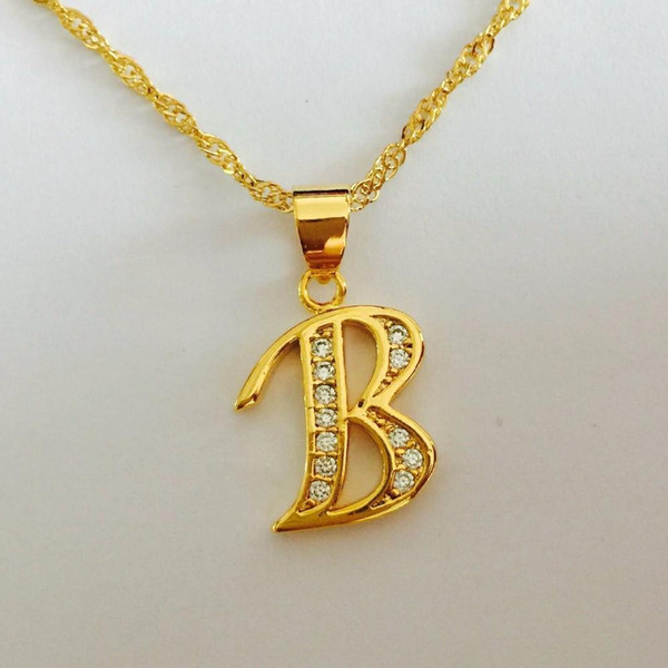 Hotstone88 Free Shipping,Fashion Punk Bitch bad Letter B Alloy Pendant Necklaces,Jewelry Wholesale