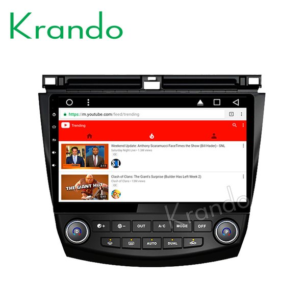 """Krando Android 8.1 10.1"""" IPS Full touch car dvd Multimedia player for Honda accord 7 2003-2007 radio gps navigation system wifi"""