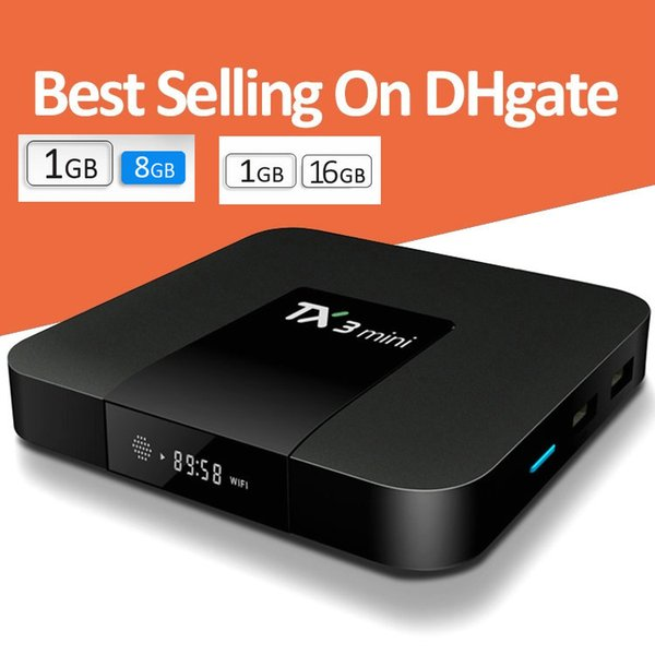 top popular TX3 Mini Android 7.1 Box 1GB Ram 8GB 16GB Rom Amlogic S905W Quad Core TV BOX Internet 4K Wifi VS Mxq pro 2019