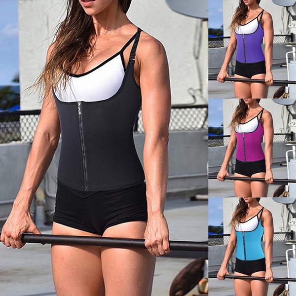 Sfit Женщины Shaperwear Zipper Живот Спорт корсет для похудения Резинового костюма застегнутого Shaping ремня живот нижнего белье Плюс Размер 4XL