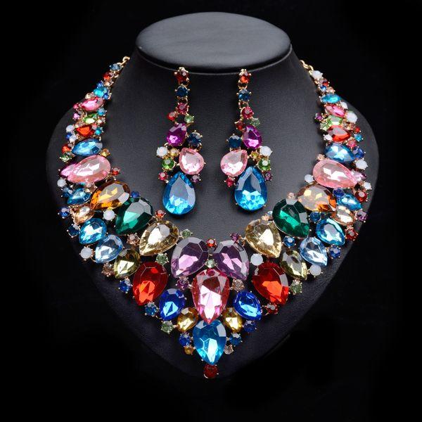 Europeus e Americanos Moda Metal Completa Diamante Temperamento das Mulheres Bonito Selvagem Colar Colar de Jóias