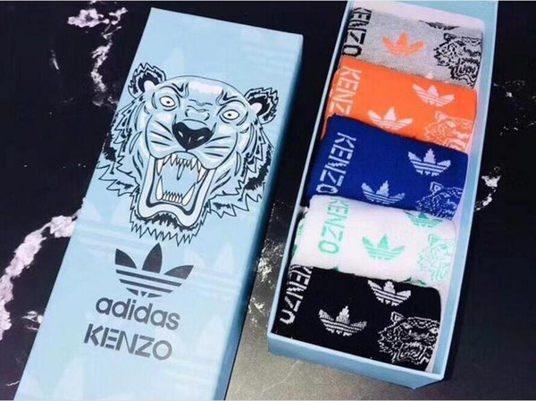 New tiger head Socks for men women Antibacterial Deodorant Cotton Fashion Ankle Socks 5 pairs/10pcs a set Socks Underwear