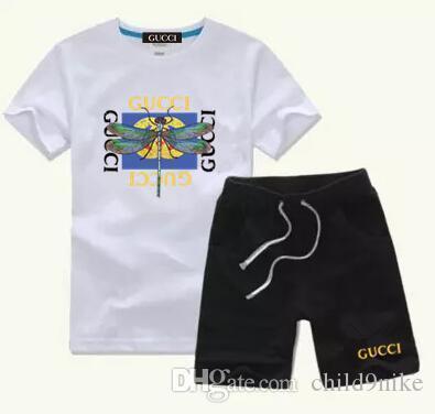 Baby Jungen Und Mädchen Designer New Style Kinderbekleidung Für Jungen Und Mädchen Sportanzug Baby, Kleinkind Kurzarm Kleidung Kinder Set