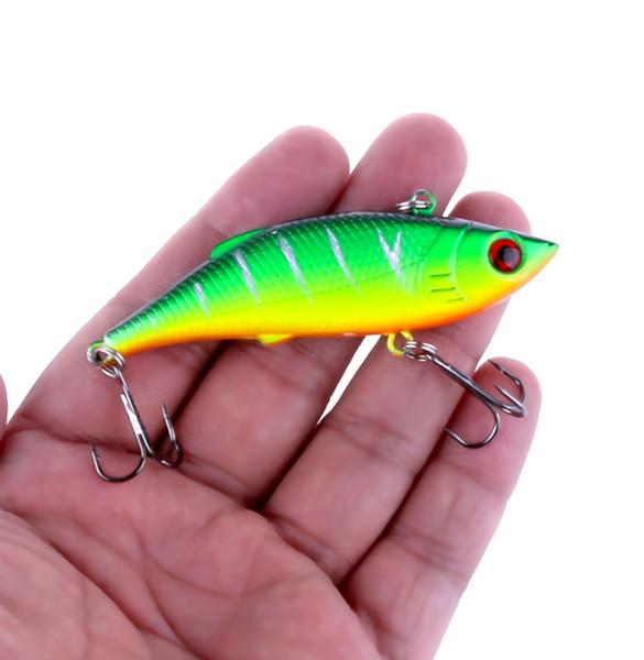75mm 10g Vib Fishing Lure Hard Bait Lifelike Pencil Artificial Lures 6# Treble Hooks Vibration Woofer Fishing Baits 5pcs