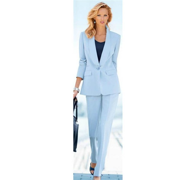 womens formal wear pantsuits Shawl Lapel Women Ladies Custom Made Business Tuxedos Work Wear Formal Suits