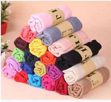 20color size180*50cm Autumn and winter new cotton and linen scarf female Korean version of the oversized cotton solid color silk scarf shawl