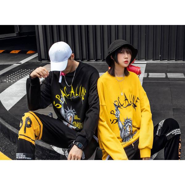 Homens Mulheres Designer Hoodies Novo Casal Camisola 2019 Primavera Outono Marca Mens Street Style Solto Tops Mens Luxo Impresso Hoodies