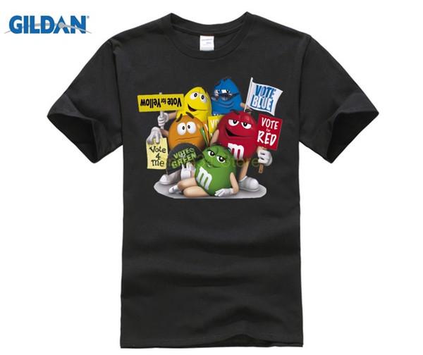 The man's printed t-shirts New Cartoon Peanut chocolate m&m's Emoji Print Cute Unisex Men t shirt Casual Hip Pop 88#