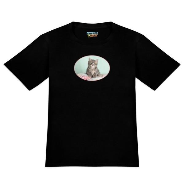 Manx Cat Kitten Bed Sitting Men's Novelty T-Shirt hoodie hip hop t-shirt