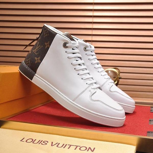 Moda LV di lussoDi qualità Mens scarpe da tennis con la scatola della piattaforma traspirante Maschio scarpe da tennis classico da ginnastica da uomo Scarpe Stivali