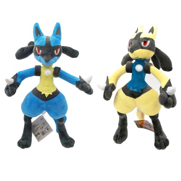 """Hot New 2 Styles 11""""-12"""" 28CM-30CM Lucario Shiny Lucario Plush Doll Anime Collectible Stuffed Dolls Party Gifts Soft Toys"""