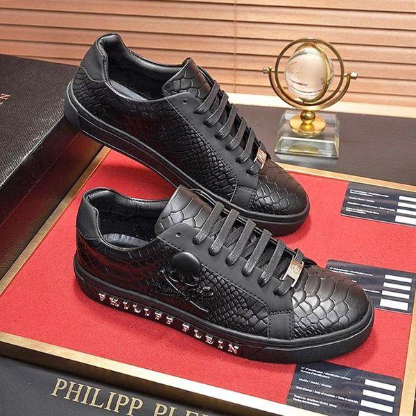PhilippPleinZapatos Moda QP las zapatillas de deporte de los hombres de lujo casual con cordones de goma soles Lo-top Calzado Herren-Schuhe transpirable para hombre Sho