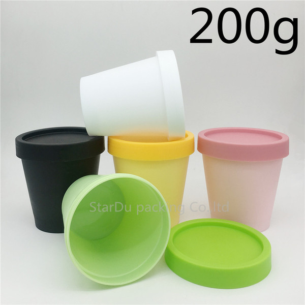 Free shipping 300pcs/lot 200g cylinder mask PP bottle, 200ml facial mask cream jars,containers split charging jars supplier