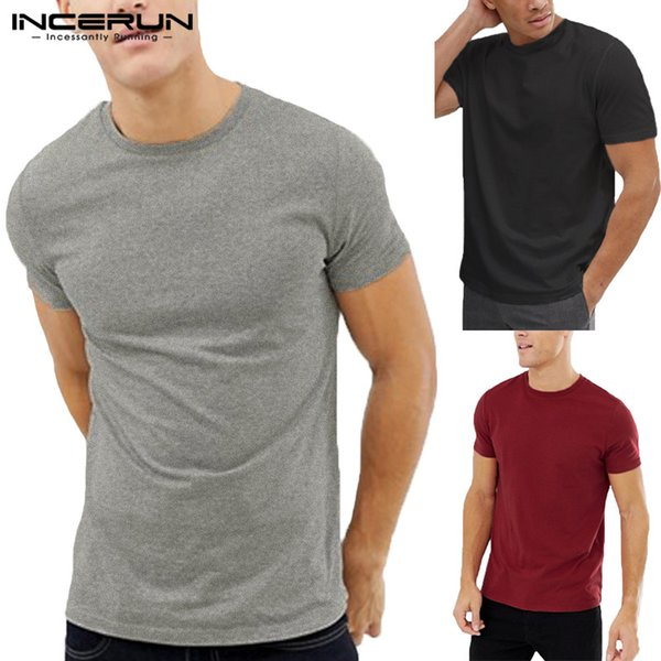 Plus Size 5XL Joggers Muscle Tee Tops 2019 Men T Shirt Basic Short Sleeve Crew Neck Bodybuilding Male Clothes Man Shirts Camisa
