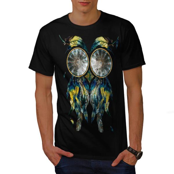 Wellcoda Adorável Dream Catcher Mens T-shirt, Animal Design Gráfico Impresso Tee Homens Mulheres Unisex Moda tshirt Frete Grátis
