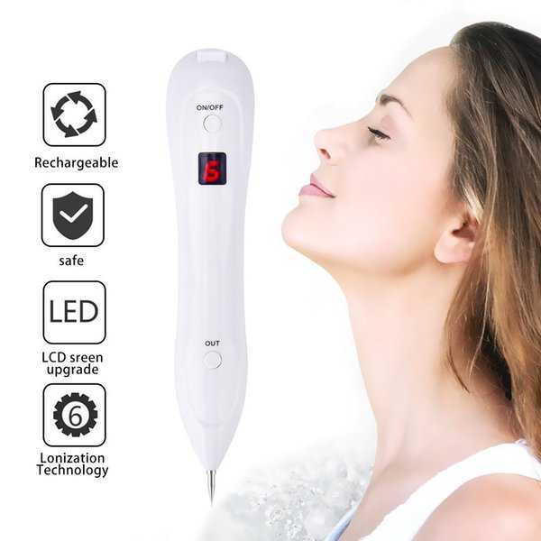 Led Laser Mole Remover Pen Sweep Spot Tattoo Freckle Wart Corns Dark Spot Removal Beauty Machine For Face Skin Care 6 Level