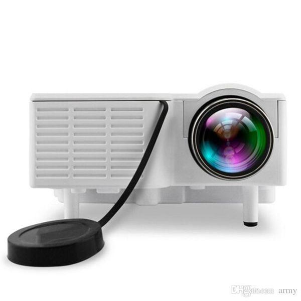 Mejor Niza Mini Portátil Uc28b Proyector 500lm Cine en casa Cine Multimedia LED Proyector de video Soporte Tarjeta USB Tf