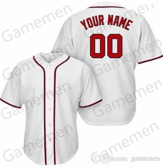BS31 Beyzbol Formalar Erkekler Kadınlar Gençlik Kid Yetişkin Lady Kişiselleştirilmiş Dikişli Herhangi Kendi İsim Numara S-4XL saklamak Gamemen
