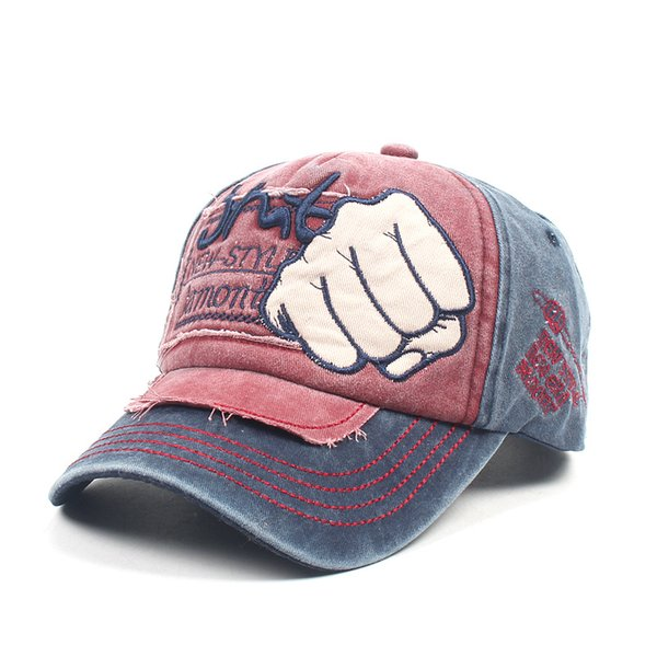 New washable vintage fist baseball cap men and women fashion letters do old embroidered cap spring outdoor casual hat