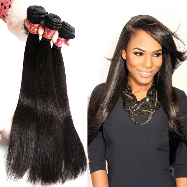 top popular Bella Hair® Factory Wholesale Brazilian Hair Silky Straight Indian Hair Bundles Malaysian Peruvian Virgin Hair 8-34inch Free Shipping 2021