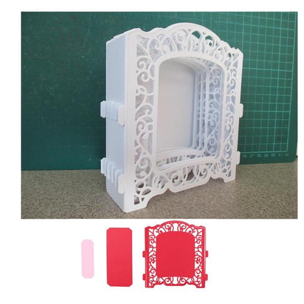 Creative lace frame Customized New scrapbooking DIY Carbon Sharp Metal steel cutting die Book photo album art card Dies Cut