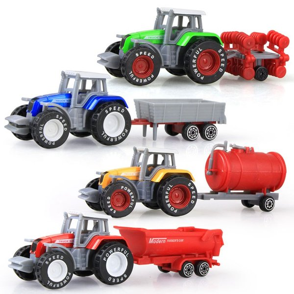 construction truck tractor toy model farm car with boy toy car model children's day Christmas gift