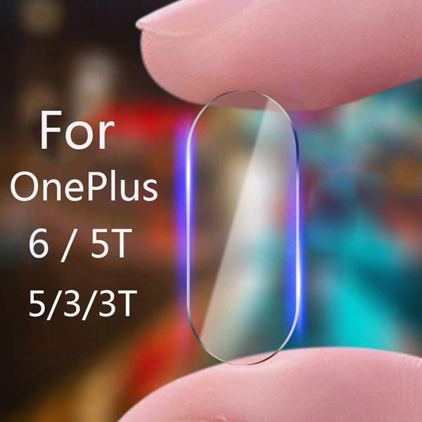 Lente Da Câmera de volta Transparente HD Limpar Vidro Temperado Para One Plus OnePlus 6 T 6 5 T 5 3 T 3 Cinco Seis Protetor Película Protetora
