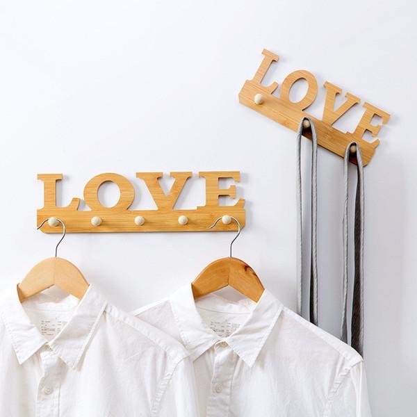 Großhandel 1 STÜCK LIEBE Haken Kleidung Robe Schlüsselhalter Hut Kleiderbügel Wand Dekoration Nach Tür Kleidung Kleinigkeiten Haken Frei