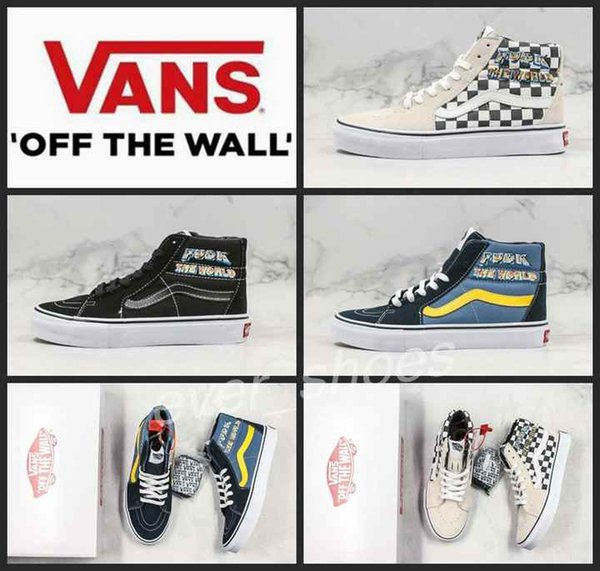 New Vans X Suprême Old Skool Men Women SK8 Hi The World Casual Designer Shoes Canvas Zapatillas De Deporte Platform Sport Sneakers Clogs For Women