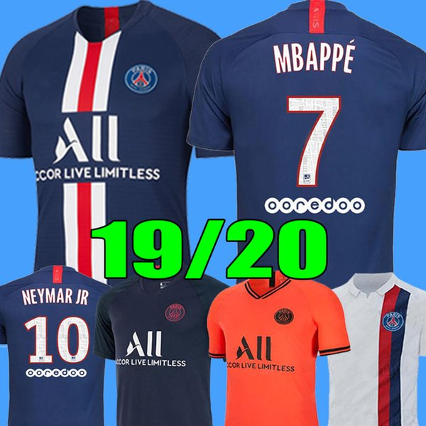 best selling Maillots de foot 19 20 PSG soccer jersey 2019 2020 Paris MBAPPE SARABIA jersey football kit champions shirt men + kids kit