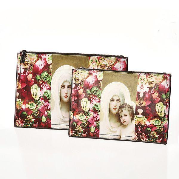 2019 summer new design high quality hot hand-painted graffiti envelope bag clutch female print painted clutch bag handbag