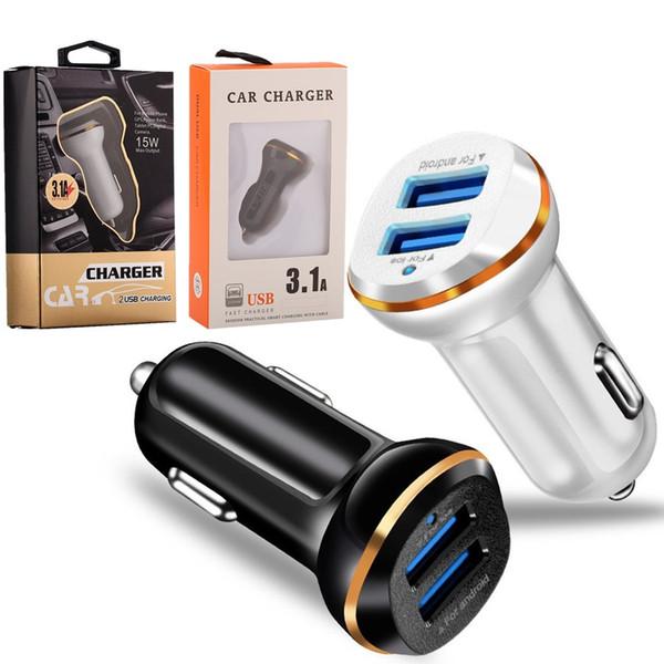 3.1A Auto Power Adapter Universal-Doppel-USB-KFZ-Ladegerät für Samsung htc Android-Handy PC mp3