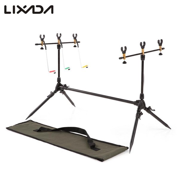 Lixada Carp Fishing Rod Pod Stand Holder Adjustable Retractable Fishing Pole Pod Stand Tackle Accessory