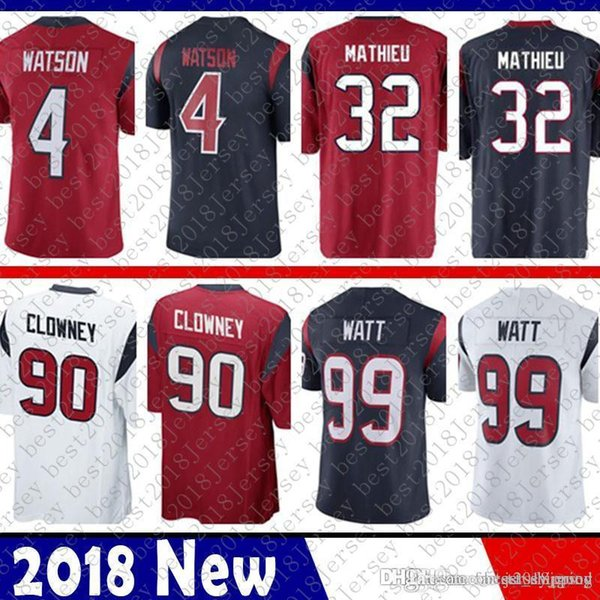 pretty nice 3462b f73e9 2019 Limited Houston 4 Deshaun Watson Jersey Texans 32 Tyrann Mathieu 90  Jadeveon Clowney 99 J.J. Watt Football Jerseys From Tukameng2016, $25.2 |  ...