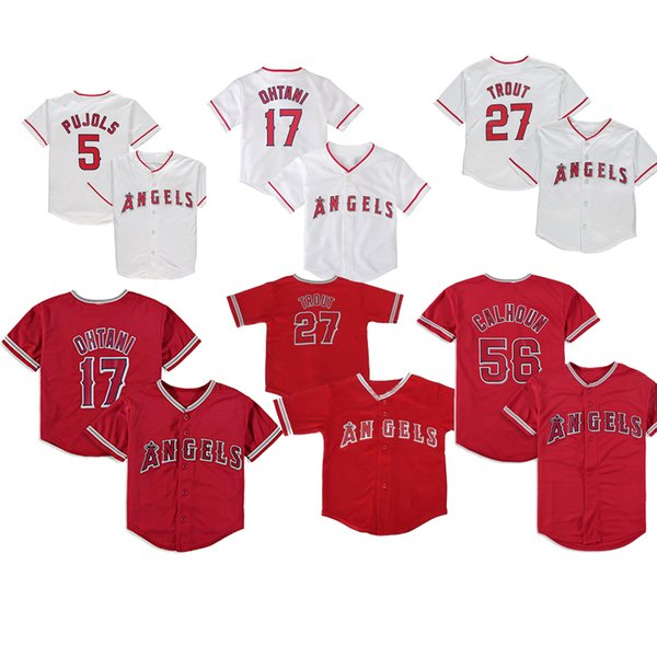 Baby Los Angeles 2019 Mike Trout Jersey Albert Pujols Andrelton Simmons Shohei Ohtani Kole Calhoun Taylor Ward Infant Angels Baseball Jersey