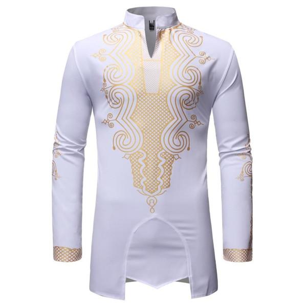 La Cina ha importato camice all'ingrosso uomo di punta Streetwear estate camice stile africano abito stampato Mens Abbigliamento B557