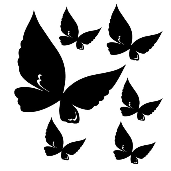 15*13.9cm Fashion Personality Creativity Classic Attractive Butterfly Funny Cute Auto Car Sticker Vinyl Decals Car Sticker