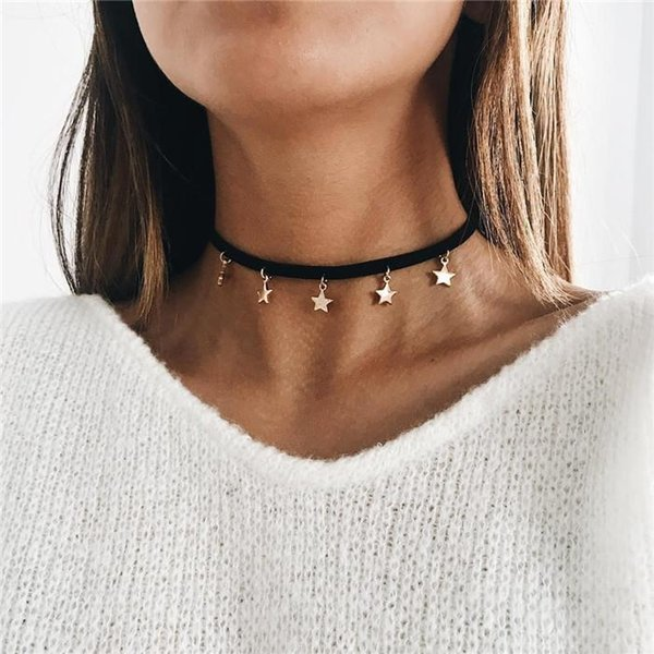 Fashion Jewelry Gold Color Star Moon Long Pendant Necklaces For Women Multiple Layers Chain Necklaces Hot Sale Bohemia Style ALXY