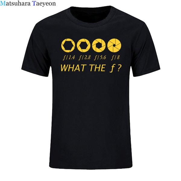 Photographer - What The F - Stop T-Shirt da uomo 100% cotone Casual T-shirt da uomo Abbigliamento di marca Top T-shirt Abbigliamento divertente