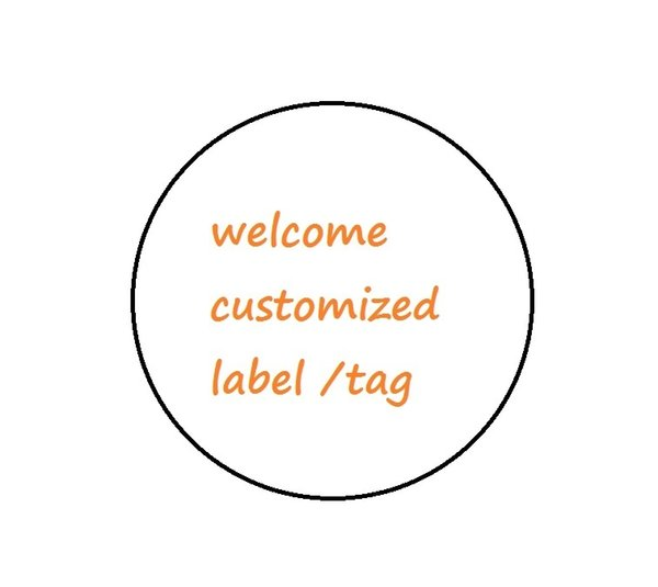 top popular customized label tag contains multicolor pinted on PVC material mini order quantity 500pcs for each size 2020